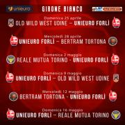 Pallacanestro 2.015 Unieuro Forlì : Domenica 25 Aprile 2021 al via il - Girone Bianco -