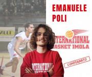 International Basket Imola - Emanuele Poli è la primka conferma