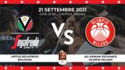LBA SuperCoppa , Final | Virtus Segafredo Bologna vs Olimpia Milano