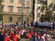 Grande entusiasmo alla presentazione in piazza duomo dell'Assigeco Piacenza