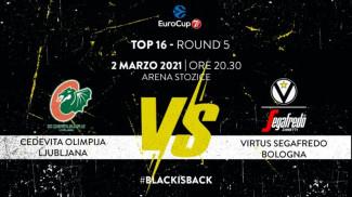il prepartita della sfida tra Virtus Bologna e Cedevita Olimpija Ljubljana