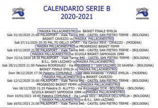 Magika Basket Castel San Pietro  : Ufficializzato il calendario della Serie B!!
