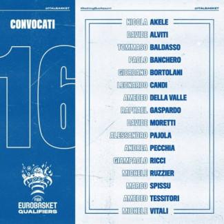 I bianconeri Ricci, Tessitori e Pajola inseriti nella lista dei 16 giocatori convocati in Nazionale per il raduno del 23 novembre.
