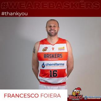 Francesco Foiera non è più un giocatore dei Baskérs Forlimpopoli
