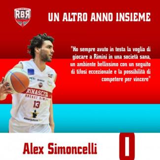 RivieraBanca Basket Rimini : Alex Simoncelli resta biancorosso