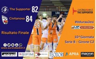 The Supporter Jesi - Rossella Virtus Civitanova Marche 82-84 (15-18, 23-22, 12-9, 18-19, 14-16)