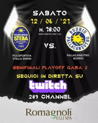 Semifinale Play - off Gara 2  Pol. Stella Rimini - Pallacanestro Budrio