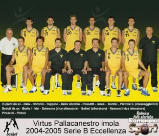 FOTO STORICHE -  Virtus pallacanestro Imola 2004-2005