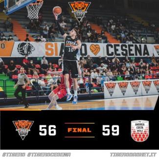 Tigers Cesena – Andrea Costa Imola 56-59 (11-19, 17-10, 11-14, 17-16)