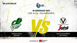 LBF, 15° giornata: Passalacqua Ragusa vs Virtus Segafredo Bologna