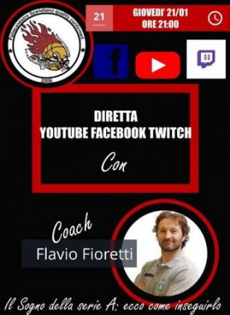 Pallacanestro Scandiano, una serata con Flavio Fioretti