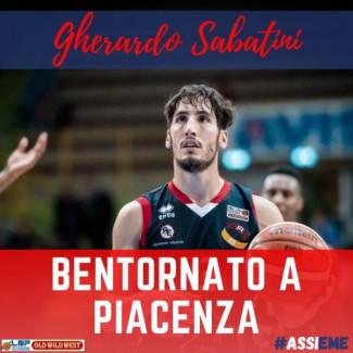 Assigeco Piacenza - Un gradito ritorno: Gherardo Sabatini è di nuovo biancorossoblu
