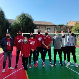 4 Torri Ferrara all'inaugurazione del campo polisportivo dell'Istituto Einaudi di Ferrara