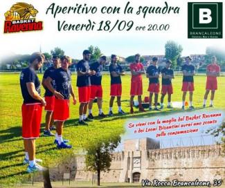Basket Ravenna - Aperitivo con la squadra venerdì 18 settembre 2020 alla Rocca Brancaleone
