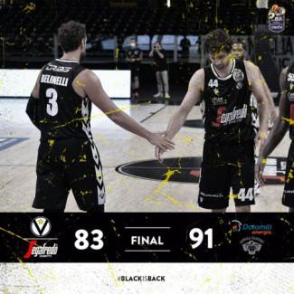 LBA, 30° giornata: Virtus Segafredo Bologna vs Dolomiti Energia Trentino: 83 – 91