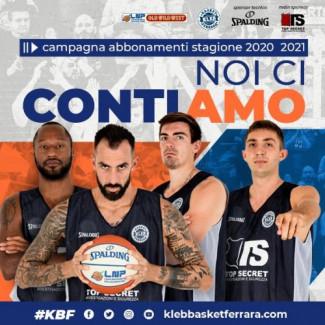 Noi ci contiamo la Campagna Abbonamenti 2020/2021 Kleb Basket Ferrara