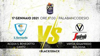 LBA, 16° giornata: Acqua S. Bernardo Cantù vs Virtus Segafredo Bologna