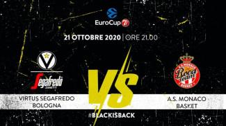 4° giornata, EuroCup 7DAYS: Virtus Segafredo Bologna vs AS Monaco