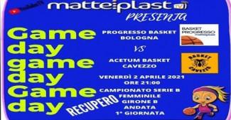 Basket Cavezzo : Venerdì sera a Bologna la rivincita con il Progresso Matteiplast.