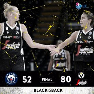 LBF, 8° giornata: Magnolia Basket Campobasso vs Virtus Segafredo Bologna: 52 – 80