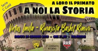 Il prepartita di Virtus Imola vs Rinascita Basket Rimini