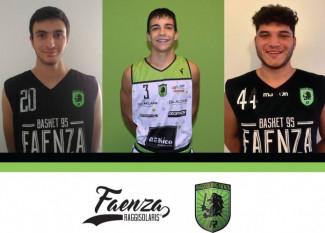 Raggisolaris Rekico Faenza : Bartolini, Marabini e Fuschini: un tris di giovani alla conquista della serie B