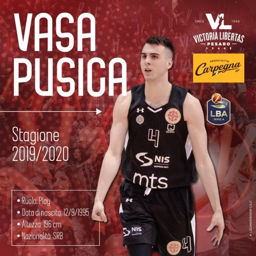 Un play serbo per la regia della Carpegna Prosciutto Basket Pesaro : Vasa Pusica è ufficiale.