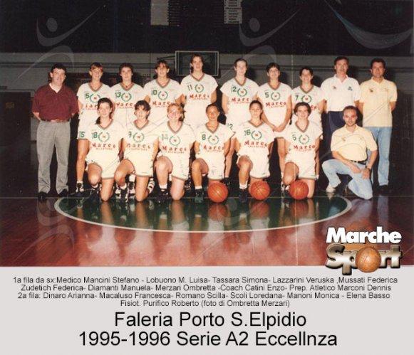 FOTO STORICHE - Basket Faleria Porto Sant'Elpidio femminile 1995-96