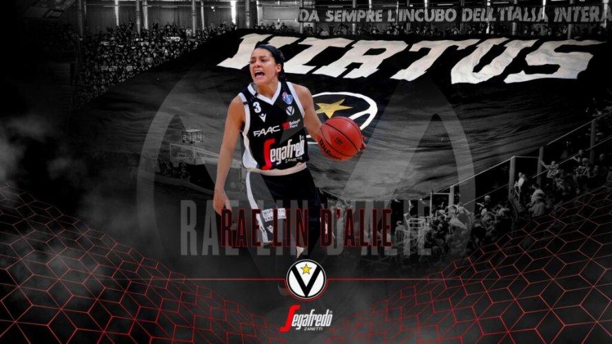 Virtus Segafredo Bologna  : Rae D'alie vestirà i colori bianconeri anche nella prossima stagione