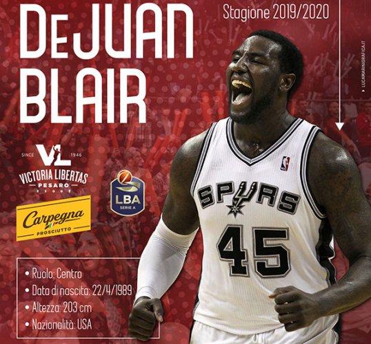 """DeJuan Blair """"al centro"""" per la Carpegna Prosciutto Basket Pesaro!"""