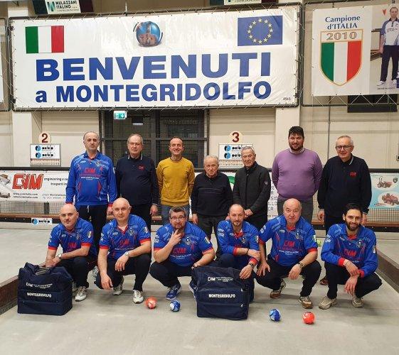 Bocce Serie A 2021:Fossombrone-CVM Montegridolfo 6-2