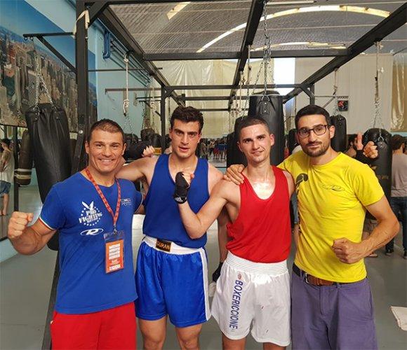 La Boxe Polisportiva Riccione a Pesaro per la riunione della Minchillo Boxe