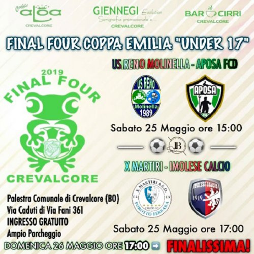 Domani le final four di calcio a 5 under 17 a Crevalcore