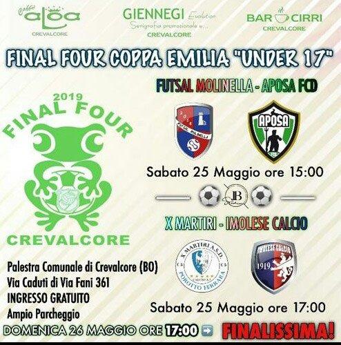 Domani le final four di calcio a 5 under 17 a Crevalcore
