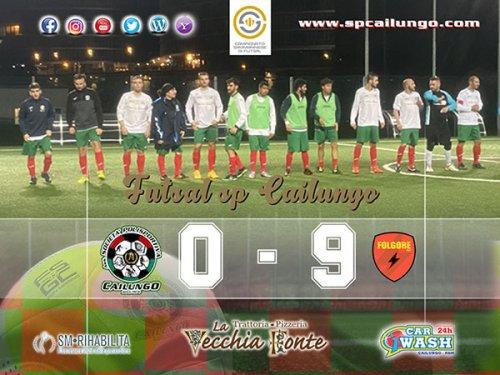 Pesante sconfitta per la Futsal sp Cailungo