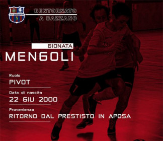 Gionata Mengoli torna alla Bazzaese Calcio a 5