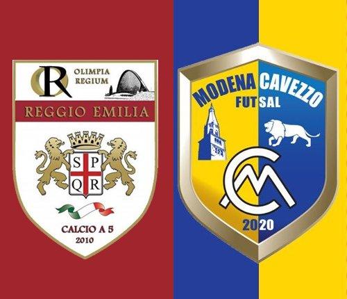 Sabato (ore 16)  la sfida interna al Modena Cavezzo Futsal