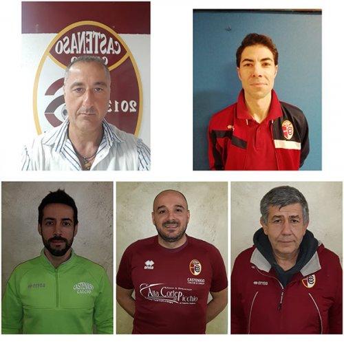 Lo staff tecnico del Castenaso Calcio a 5