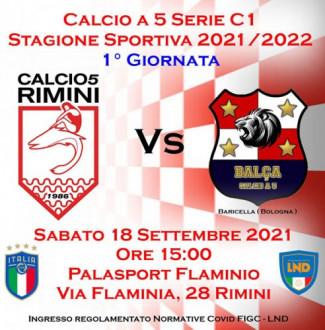 Il Rimini calcio a 5  riparte dal Flaminio