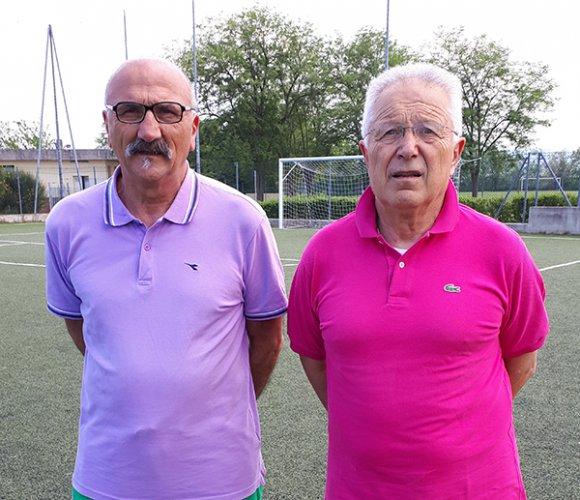 Fiorini e Gaia  per la crescita dei  giovani calciatori progetto Fya a Sant'Andrea in Casale