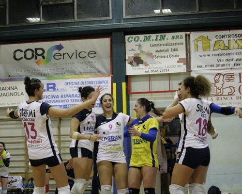 Cattolica-Liverani Castellari Lugo 0-3 (20-25, 20-25, 23-25)