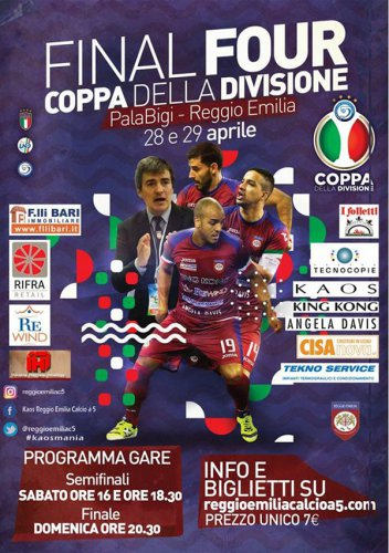 Kaos Reggio, Luparense, Italservice Pesaro e Maritime Augusta: che Final Four al PalaBigi!