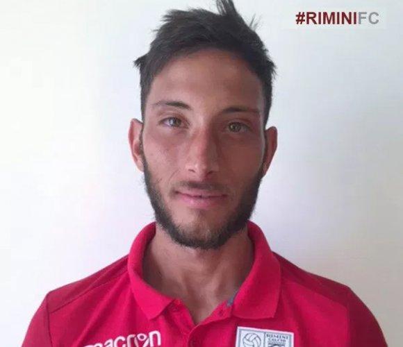 Matteo Serafini saluta il Rimini