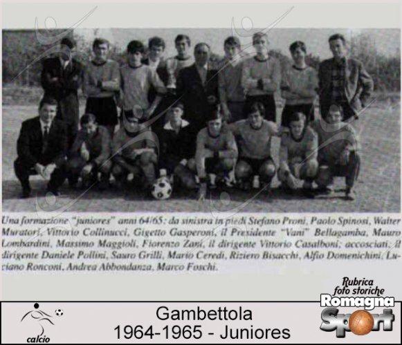 FOTO STORICHE -  Gambettola Juniores 1964-65