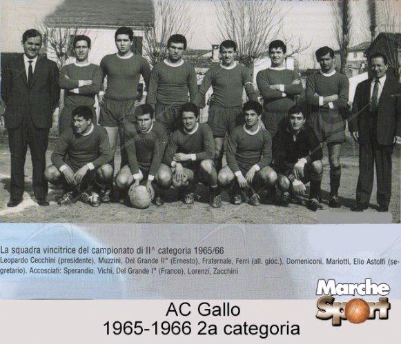 FOTO STORICHE - AC Gallo 1965-66