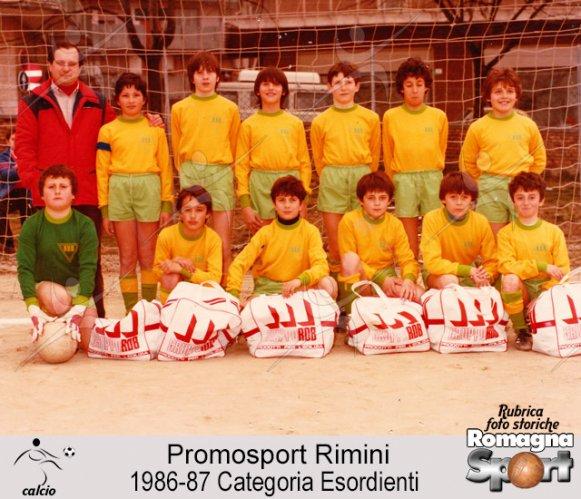 FOTO STORICHE - Promosport Rimini 1986-87 Esordienti