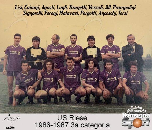 FOTO STORICHE - US Riese 1986-87