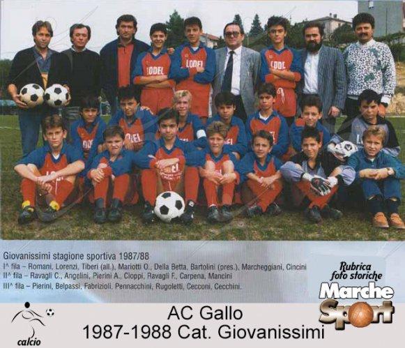 FOTO STORICHE - Giovanissimi AC Gallo 1987-88