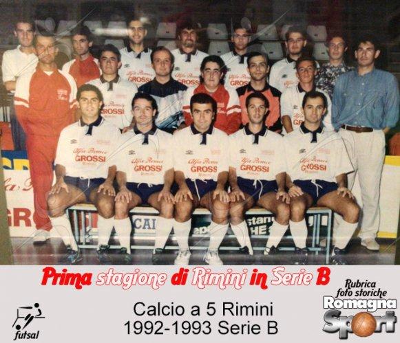 FOTO STORICHE - Calcio a 5 Rimini 1992-93
