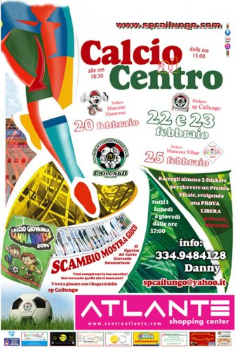 Calcio al Centro, 20-22-23 e 25 febbraio 2020